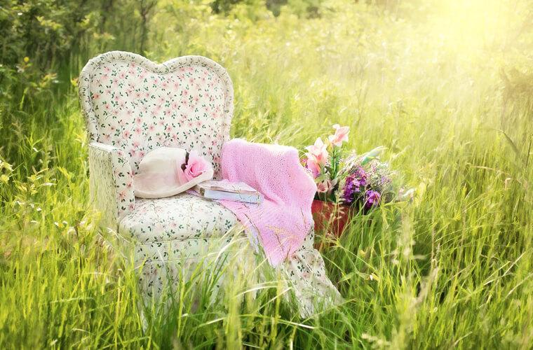 可愛少女,道地的美式鄉村風單人沙發
