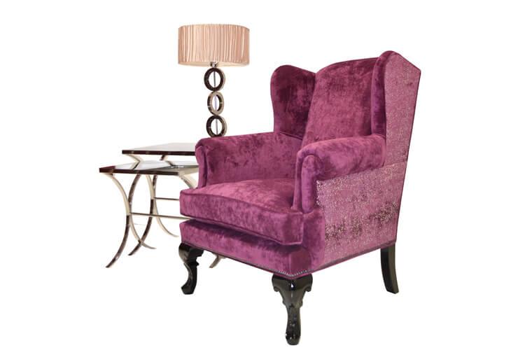 傲驕公主,古典奢華風的單人絨布沙發