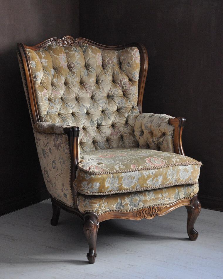 古典優雅女伶,巴洛克風格單人沙發