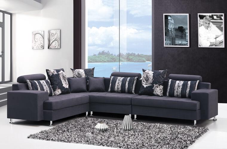 常見的轉角沙發方式是使用沙發組合,可以用單人沙發、雙人沙發、三人沙發隨心所欲自由發揮