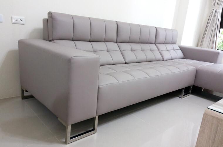 【牛皮L型沙發訂做】員林張公館 - 03