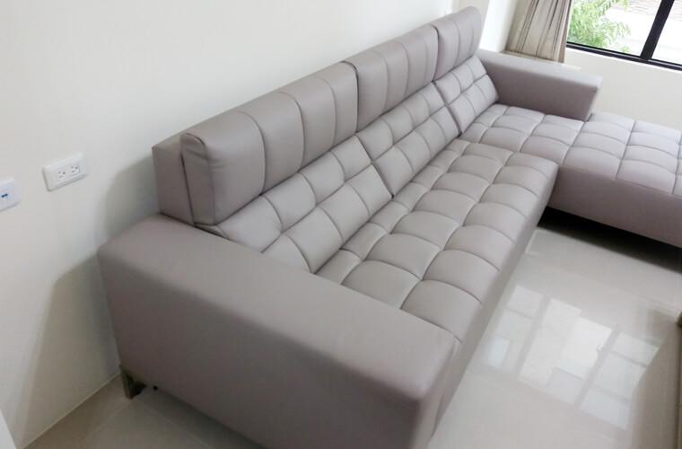 【牛皮L型沙發訂做】員林張公館 - 04