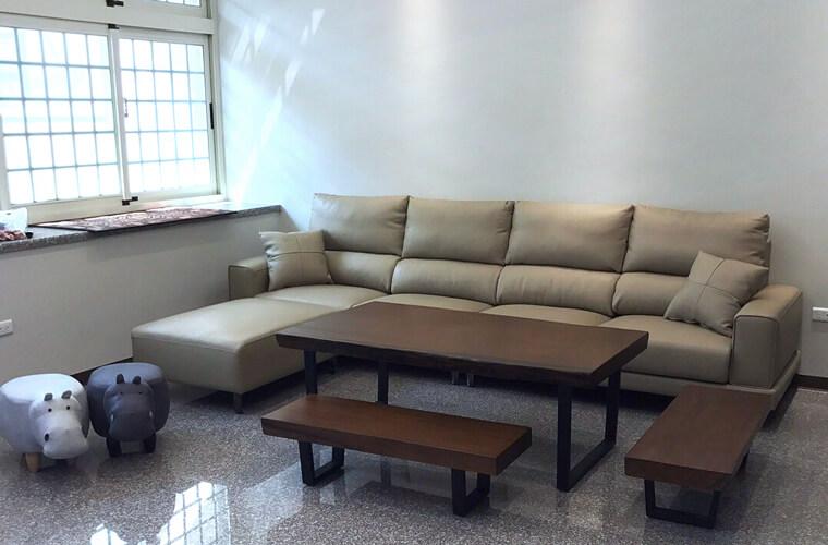 【加大五人座L型沙發訂做】清水區林宅 - 06