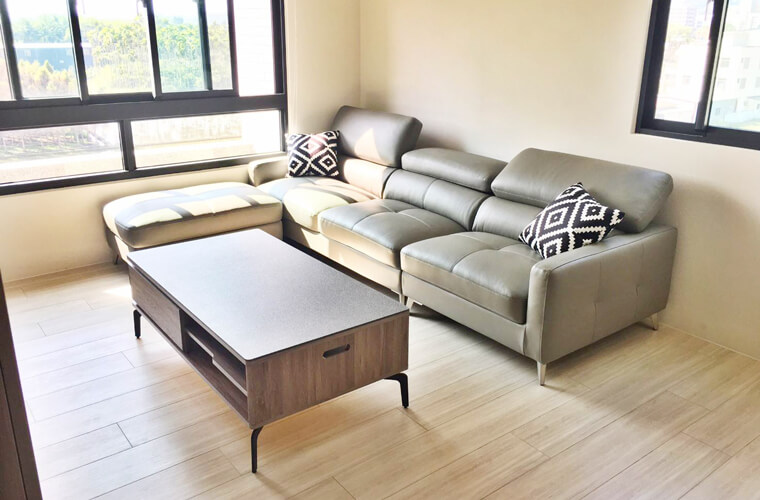 威力森牛皮沙發,牛皮柔韌的親膚性,使下班後的輕鬆休閒更加溫暖