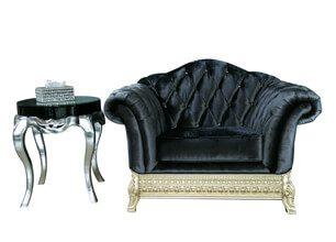 白金漢單人沙發