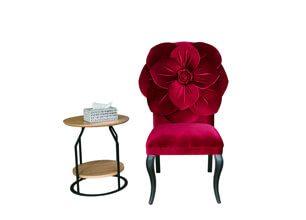玫瑰單人沙發