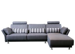 杰諾L型功能布沙發