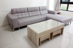 【牛皮L型沙發訂做】員林張公館