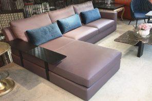 芙萊斯牛皮L型沙發